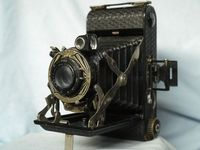 English Ensign Selfix 20 Art Deco Vintage Folding Camera -Nice - ​